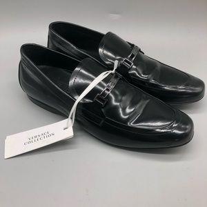 Versace Collection Scarpe black patent derby shoes